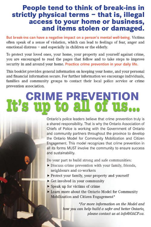OACP 2016 Crime Prevention Book