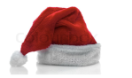 [Santa's Hat, red with white trim]