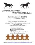 Champlain Park Winter Carnival 2013 poster