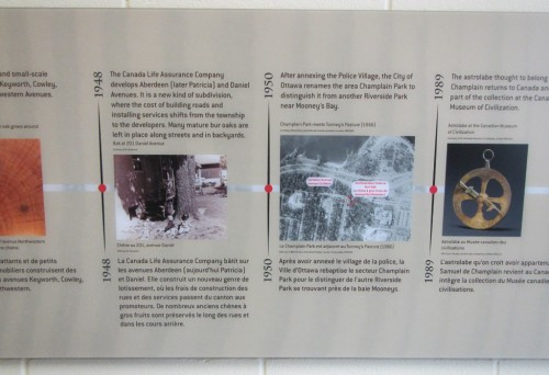 Section of the Historical Timeline on the Fieldhouse Wall