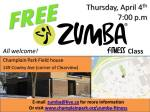 Zumba at the Fieldhouse Poster