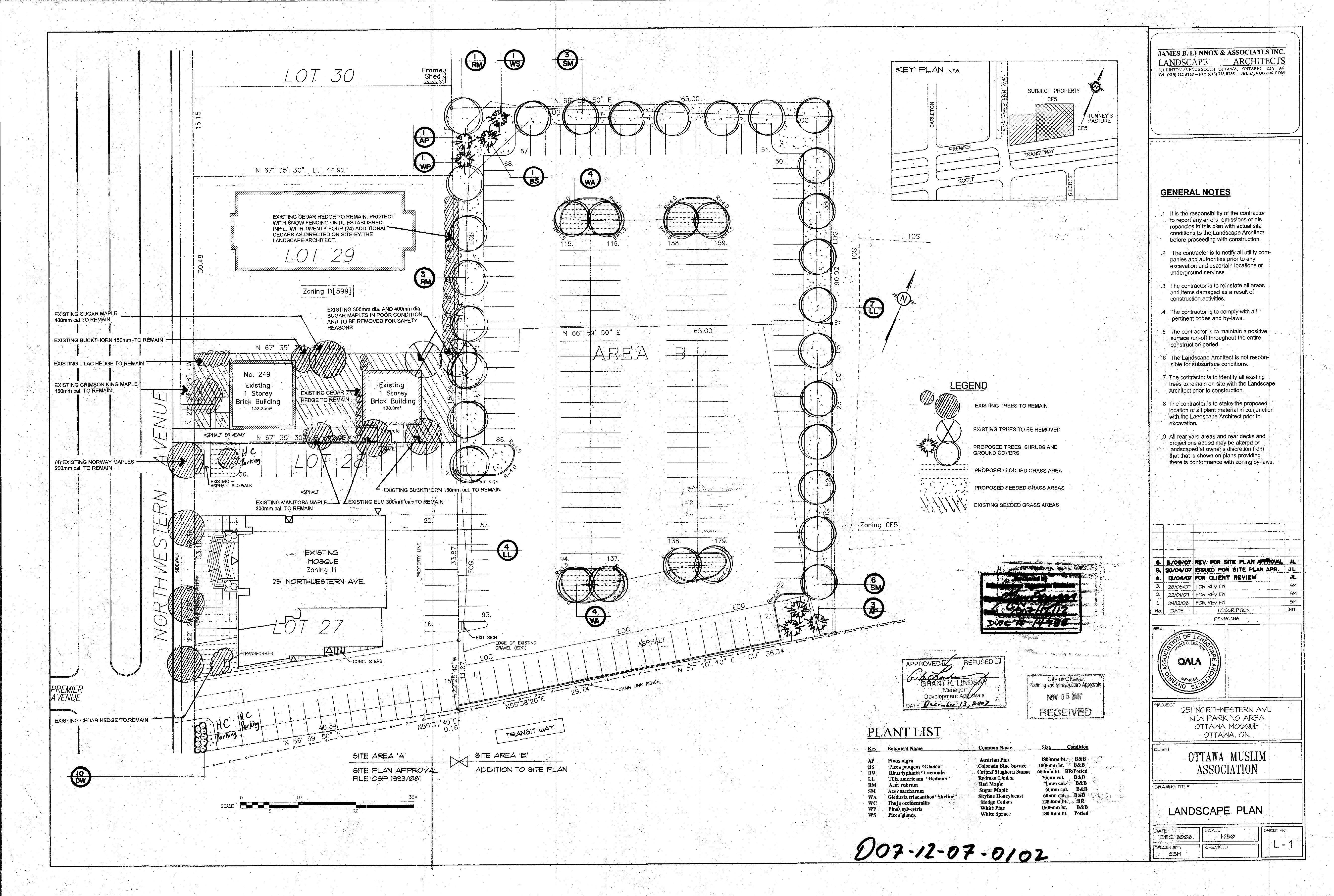 May 2013 champlain park community for Site plan with landscape