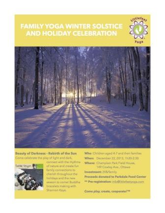 Winter Solstice Family Yoga Event Dec 22 2013