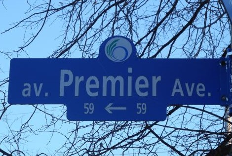 Premier Ave road sign