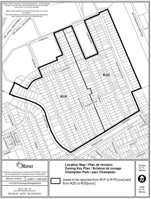 Champlain Park Front Yard Set Back 8 July 2014