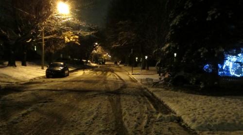[20141117 Slushy Snow on Daniel Avenue]