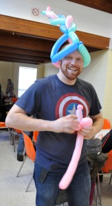 Jason Keats, Carleton Ave, creator of balloon animals, most popular guy at the Winter Carnival!