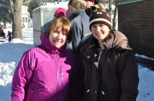Carol Arnason, Cowley Ave, and Sarah Brooks, Carleton Ave, co-organized the Winter Carnival.