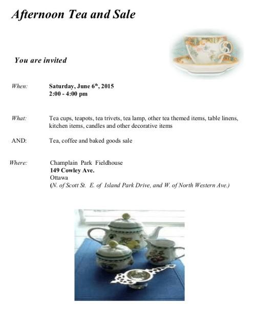 [Afternoon Tea Sale on June 6 Poster]