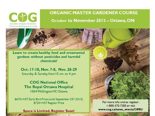 [COG Organic Master Gardener Course Flyer]