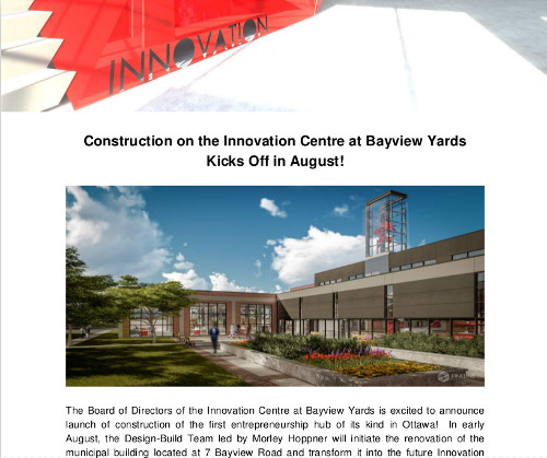 [Innovation_Centre_Construction_Notice_English Front Page]