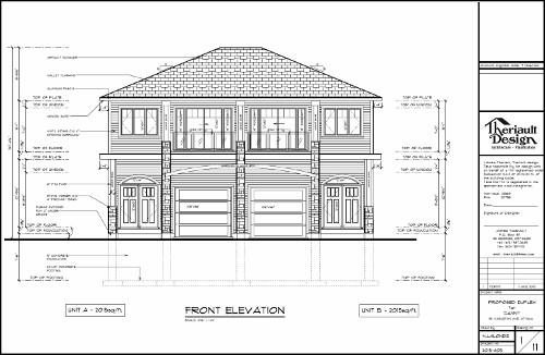 [251 Carleton Front View Plan]