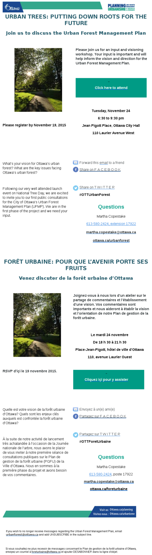 [Picture of Urban Forest e-Mail - formatting too complex to put in a post]