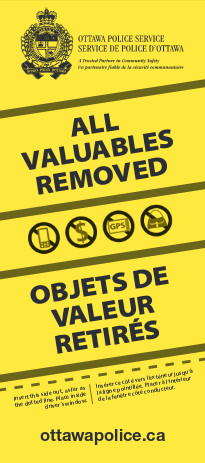 [All Valuables Removed card]