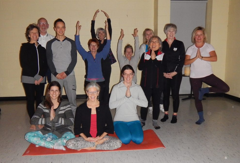 Some happy Yoga participants who attended the class last of the Fall 2016 session.