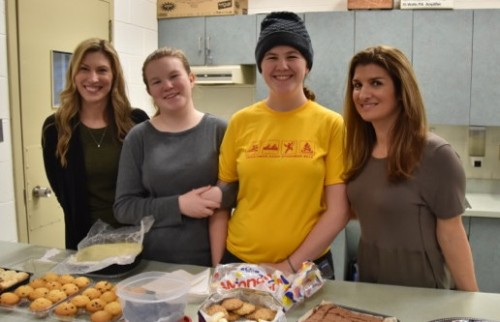 CPCA Winter Carnival organizers Sarah Kotyck (left) and Natalie Raffoul (right) with volunteers Olivia and Katie Bolger.