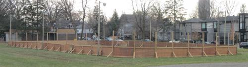 [New Boards at the Champlain Park Rink]