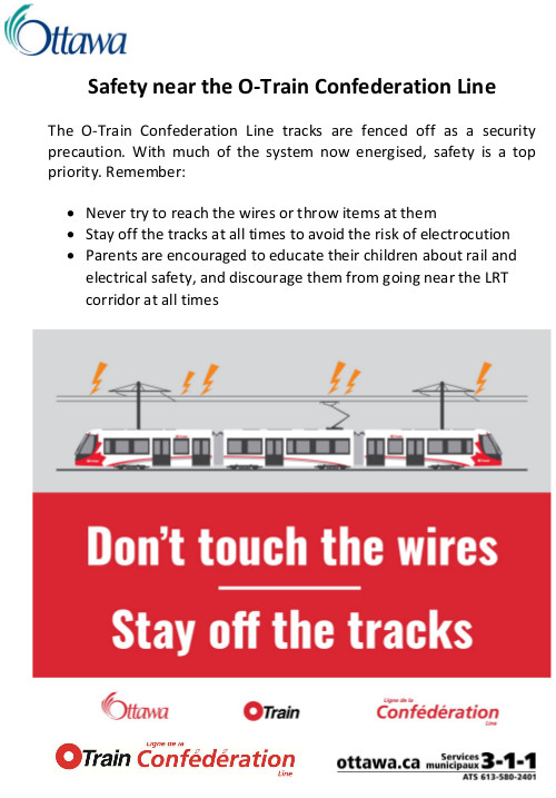[Poster for O-Train Overhead Wires Danger]