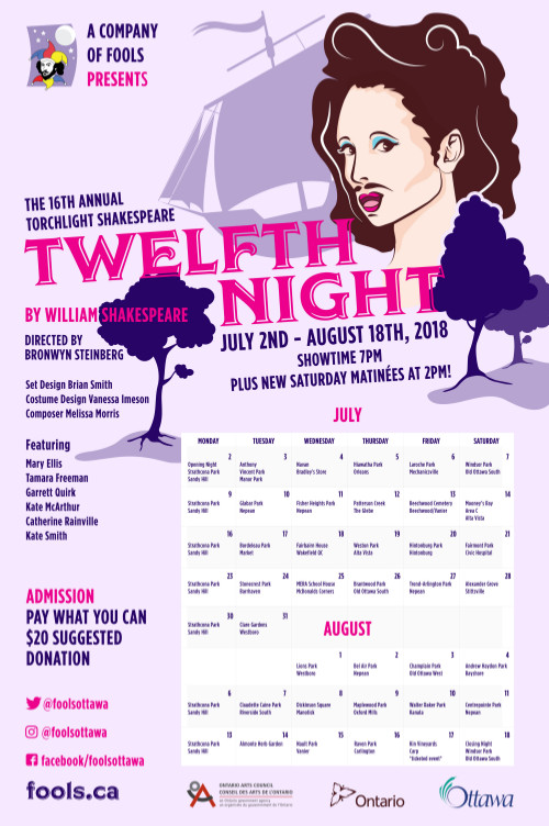 [Poster with Calendar for Twelfth Night Performances]