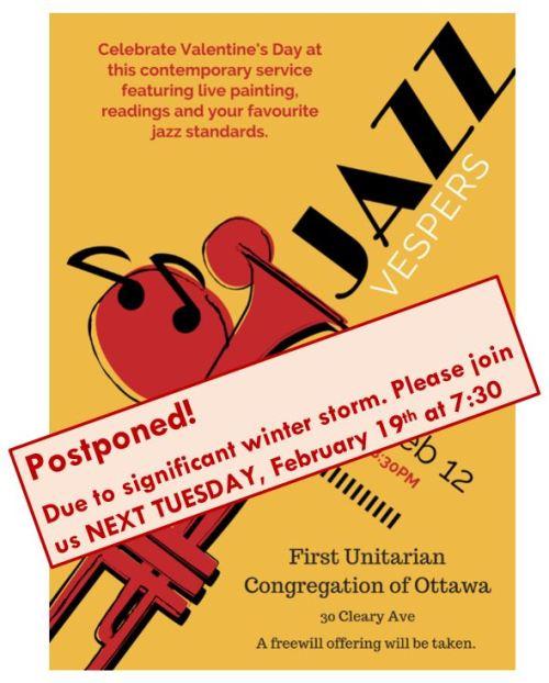 [Jazz Vespers Postponed Poster]