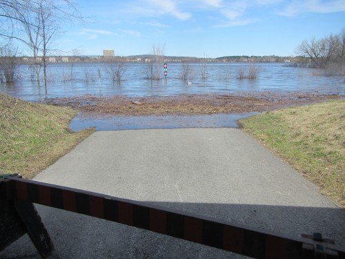 [Flooded Remic Beach Entrance at Carleton Avenue]
