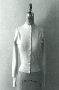 [Sweater on a Stand, in Black and White]