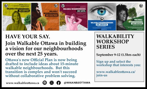 [Walkable Ottawa Poster]