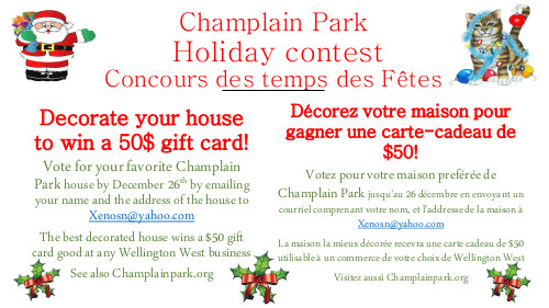[Holiday Decorating Contest Poster, Landscape, Bilingual]