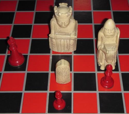 [Chessboard Overhead View]