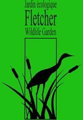 [Fletcher Wildlife Garden Logo - Long legged bird in marsh cat tails]